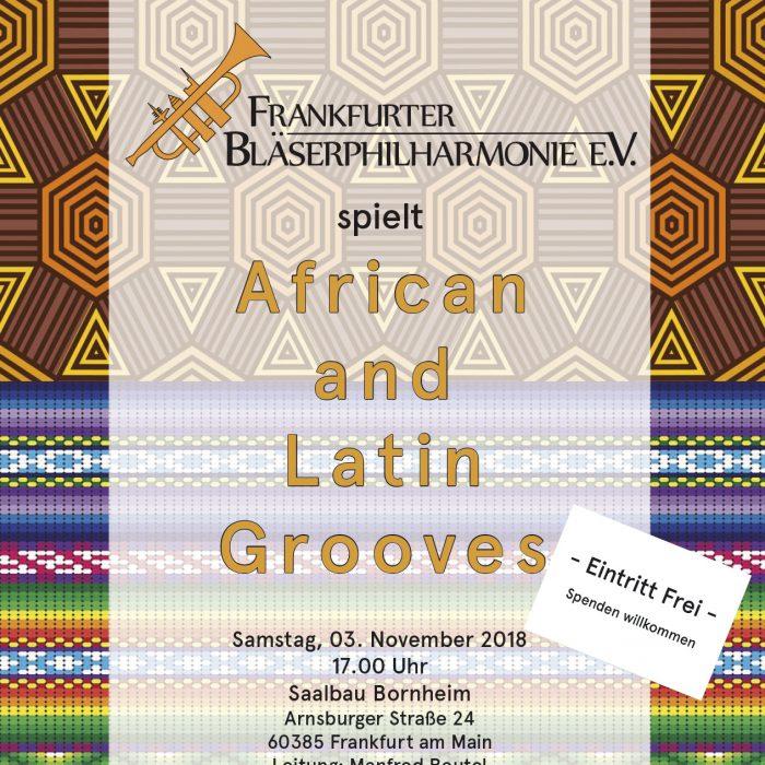 "Konzertplakat ""African and Latin Grooves"", November 2018"