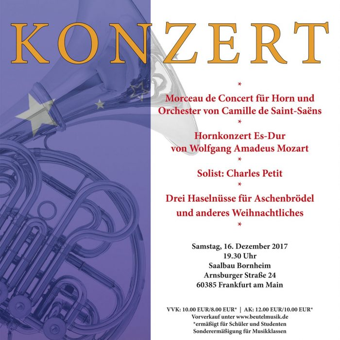 Konzertplakat Dezember 2017