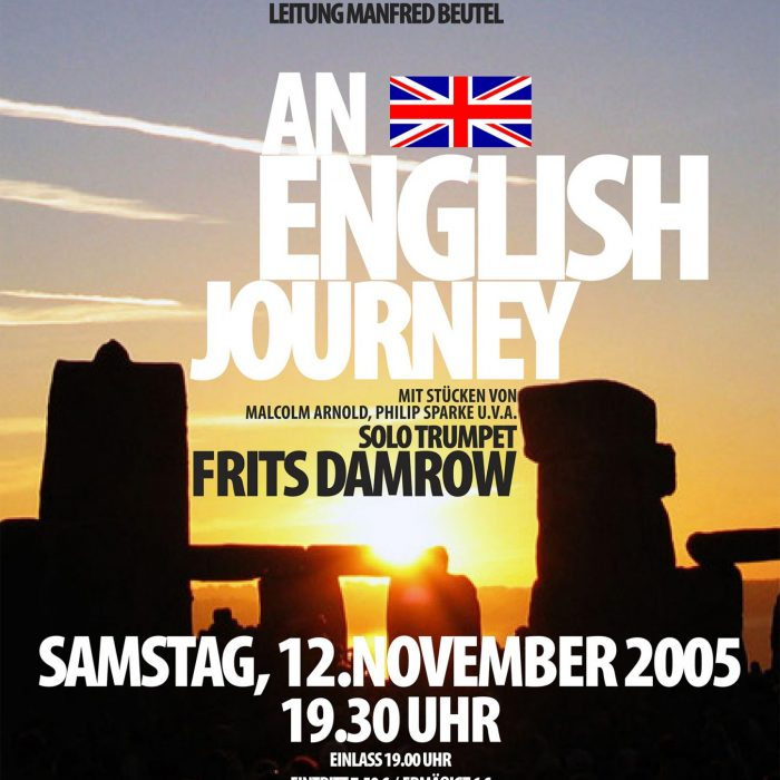 "Konzertplakat ""An English Journey"", November 2005"