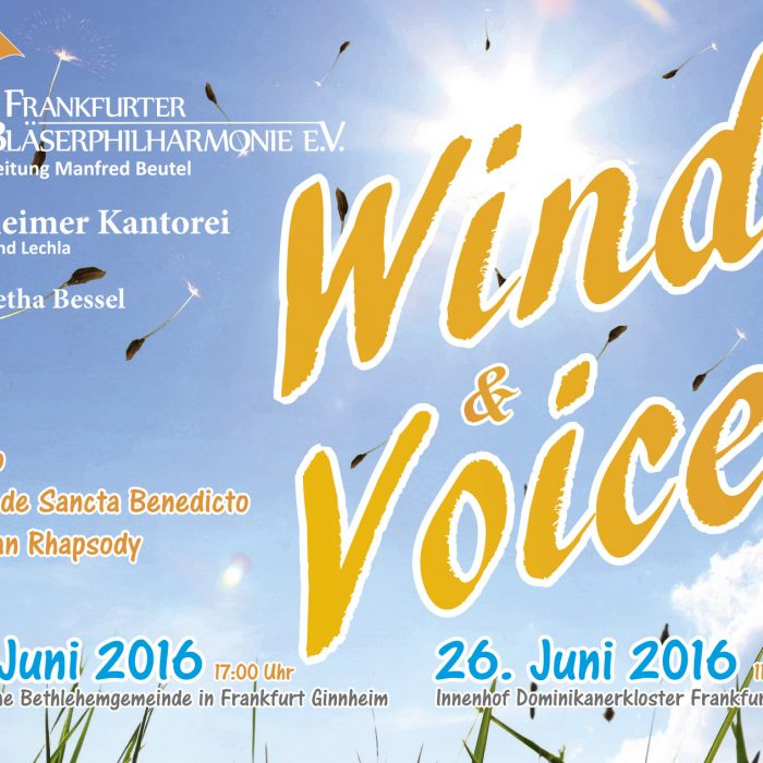 "Flyer ""Winds and Voices"", Juni 2016"
